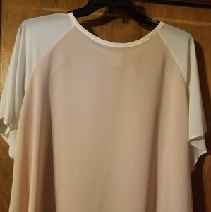 Light pink and white blouse